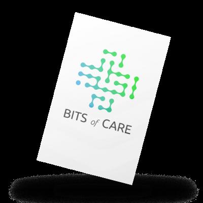 business card logo schaduw