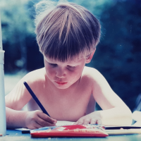 drawing as a youngster